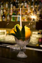 Coctail with sparks Stock Image