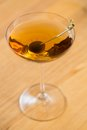 Coctail the on wooden table selective focus Royalty Free Stock Photo