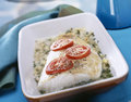 Cod fillet with mustard Stock Images