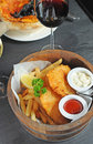 Cod fish, chips Stock Photo