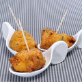 Cod fritters spanish tapas Royalty Free Stock Images