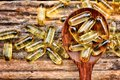 Cod liver oil capsules close up of Stock Image