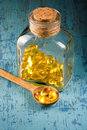 Cod Liver Oil Capsules Royalty Free Stock Photo
