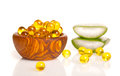 Cod liver oil omega Royalty Free Stock Photo