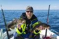 Cod spring fishing Royalty Free Stock Photo
