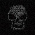 Code texture skull