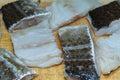 Codfish in polish cuisine on the polish table tasty cod Stock Photo