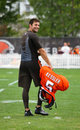 Cody kessler browns nfl training camp during is an american football quarterback for the franchise the cleveland Royalty Free Stock Image