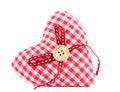Coeur décoratif de tissu Photographie stock libre de droits