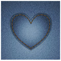 Coeur de denim Image stock