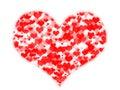 Coeurs au coeur Photographie stock libre de droits