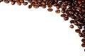 Cofee beans on a white background Royalty Free Stock Photo