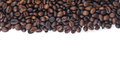 Cofee beans on white Royalty Free Stock Photo