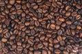 Cofee beans on white Royalty Free Stock Photo