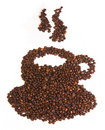 Coffe cup made of coffee beans Stock Images