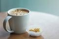 Coffe cup of snack espresso cappuccino Stock Photo