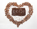 Coffe drink beans crisp the heart of morning turkish Stock Images