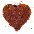 Coffe heart isolated see my other works in portfolio Royalty Free Stock Image