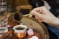 Traditional Turkish coffee Royalty Free Stock Photo