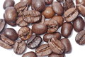 Coffe z photo of fried grains of coffee of brown color Royalty Free Stock Images