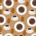 Coffee background seamless pattern Stock Images