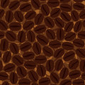 Coffee background. Seamless pattern with coffee beans. It can be