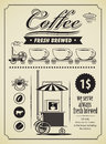 Coffee banner Royalty Free Stock Images