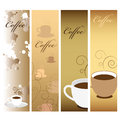 Coffee Banners Stock Image