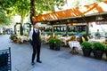 Coffee bar in rome the famous via veneto Royalty Free Stock Photo