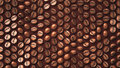 Coffee bean closeup pattern background zoom up with vary rotation degree made of d model render Royalty Free Stock Images