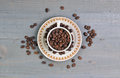 The Coffee Bean Royalty Free Stock Photo