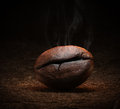 Coffee bean on dark backgroung Royalty Free Stock Photo
