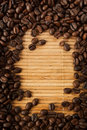 Coffee bean frame Stock Photography