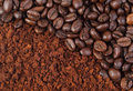 Coffee bean and ground Royalty Free Stock Photos