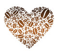 Coffee Bean Heart Royalty Free Stock Image