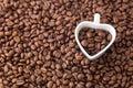 Coffee Bean And Heart Shape Cu...