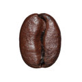 Coffee Bean isolated. Macro Royalty Free Stock Photo