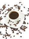 Coffee and beans Royalty Free Stock Image