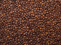 Coffee beans as food background numerous which have been scattered all over the surface Royalty Free Stock Images