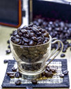 Coffee beans on a background of Royalty Free Stock Photo