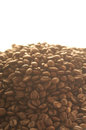 Coffee beans background with many Stock Photo