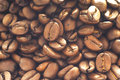 Coffee beans background with many Royalty Free Stock Photos