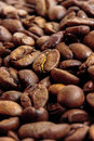 Coffee beans background soft light Stock Image