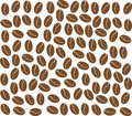 Coffee beans background vector of brown Royalty Free Stock Image