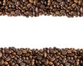 Coffee beans border Stock Photos