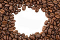 Coffee beans border. Stock Image