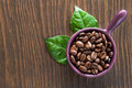 Coffee beans in a bowl Royalty Free Stock Photo