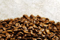 Coffee beans brown in bulk Stock Photography