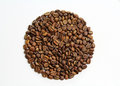 Coffee beans circle Stock Photos