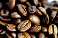 Coffee Beans Closeup Stock Photography